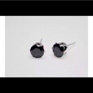 Cute n Tiny Black Crystal Stud Earrings